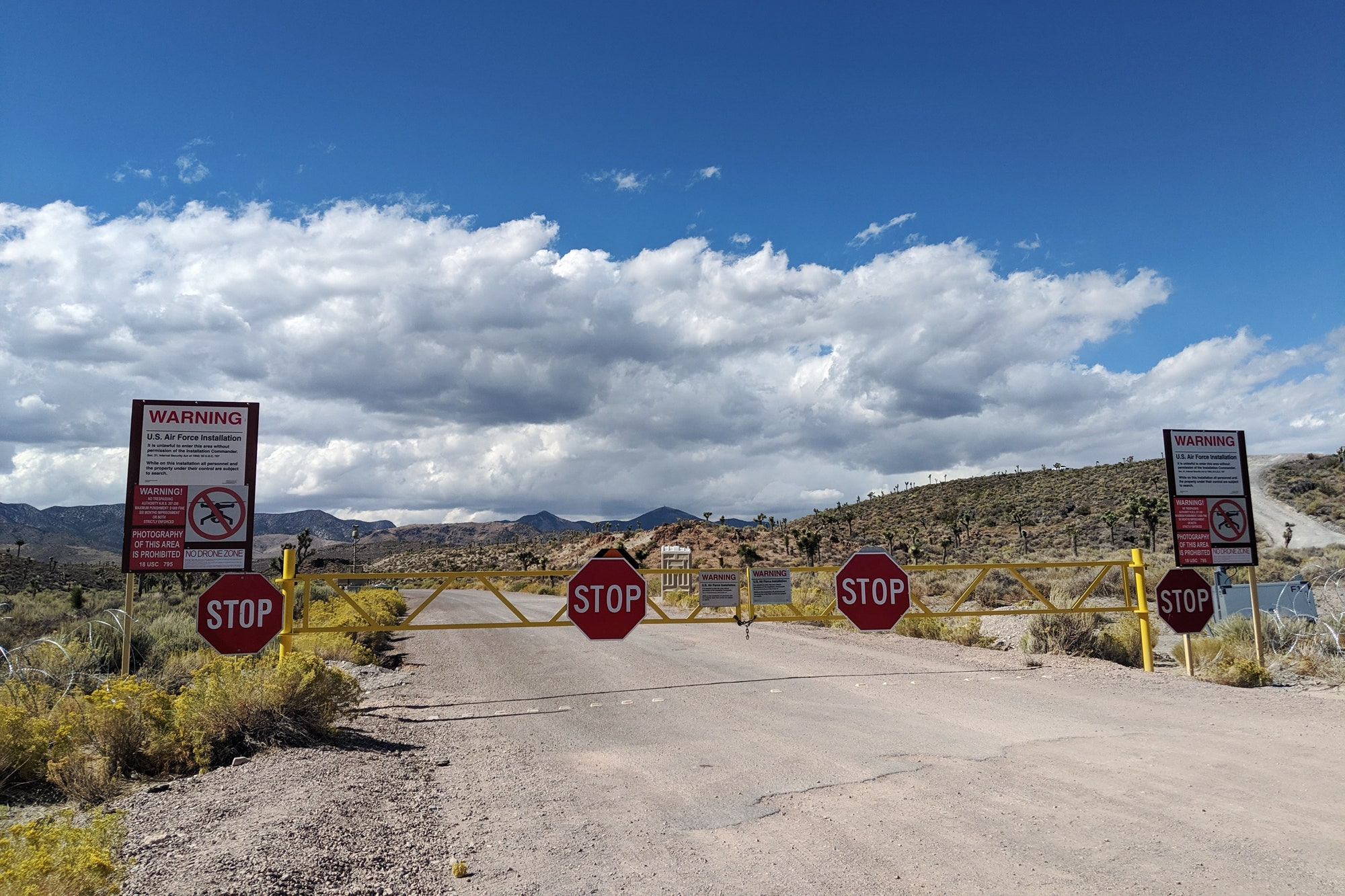 Area 51 With Warning Signs