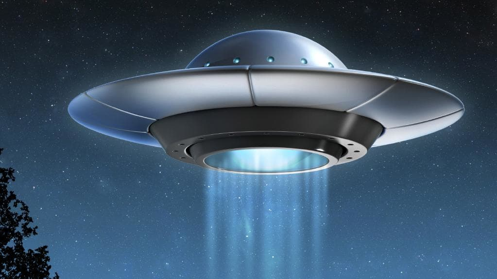 UFO sighting in the sky