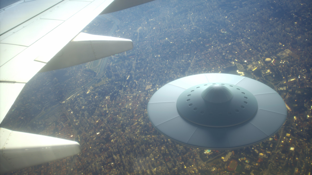 UFO sightings from a plane