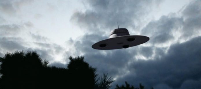 alien spacecraft in the sky