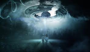 kids and alien spacecraft